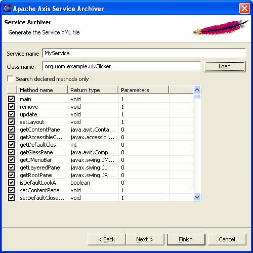 Apache Axis2 Tools Eclipse Plugin
